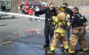 On Saturday, April 9th, 2011, the Good-Will Fire Department hosted an open house. A live demonstration of a vehicle extrication was conducted and hands-on activities were available for guests. (Photo and video by John Gaudioso, Jr.)