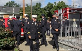 """On Sunday, 9/9/12, the Good-Will Fire Department joined other area fire departments and law enforcement agencies in a """"blue mass"""" at Sacred Heart Church in Newburgh. This mass is an annual memorial for those who died in the 9/11/01 attacks."""