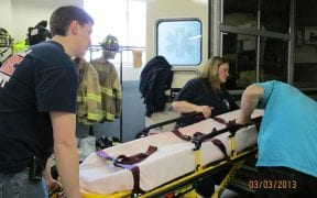 On 3/3/13, the Good-Will FD trained in a joint drill with Town of Newburgh EMS. (Photos by Lt. Amy Conner)