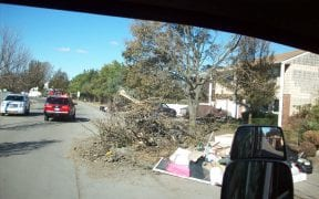More wind damage and property destroyed by flooding.