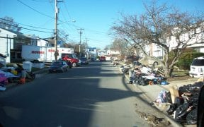 12/24 The amount of garbage was endless after flood waters rose near the tops of the first floors on this street.