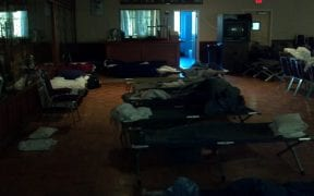 The temporary living quarters on the 2nd floor of the Oceanside FD's main HQ.