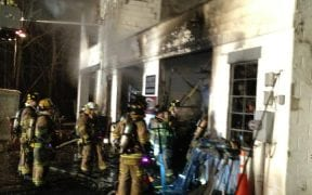Just after 4am on 2/2/13, the Good-Will Fire Department responded to a call for a structure fire on Taft Avenue. Heavy fire was found throughout a two-story commercial building and a 2nd alarm was called.