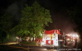 The Good-Will Fire Department responded to assist the Middlehope Fire Department in an overnight house fire on July 2, 2008.(Photos by Paul F. Harrington / 1st Responder)