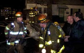 At 8:40pm on 1/26/06, the Good-Will and City of Newburgh Fire Departments were dispatched to a working structure fire at 319 Dupont Ave. Both departments arrived to find heavy fire coming from the home. A second alarm was transmitted, calling for the Air Guard FD, Orange Lake and Cronomer Valley. (Photos by Jim Bakun / 1st Responder)