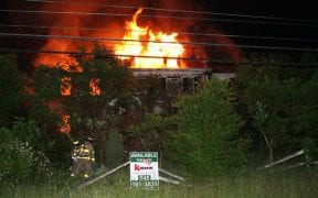 The Good-Will Fire Department battled a 3-alarm structure fire on June 1, 2007. (Photos by Jim Bakun and John Miller / 1st Responder)