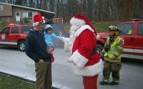 On Sunday, December 19th, 2010, the Good-Will Fire Department escorted Santa Claus throughout the fire district aboard a fire truck to make a brief pre-Christmas visit with the neighborhood children. Along the way, Santa passed out hundreds of candy canes while stopping at local residences and businesses. Firefighters then delivered Santa to the annual Christmas party at the Good-Will firehouse. (Videos and photos by John Gaudioso, Jr.)