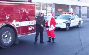 On Sunday, December 18th, 2005, members of Good-Will escorted Santa Claus through the district to visit all of the children and pass out hundreds of candy canes. With lights flashing and sirens blaring, the convoy of emergency vehicles made stops at the local residences as well as Price Chopper and Home Depot. Santa then visited the friends and relatives of Good-Will members during the annual Christmas party. (Photos by John Gaudioso, Jr.)