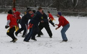 On Thanksgiving morning, 2005 Good-Will FD and Winona Lake FD participated in the annual Turkey Bowl football game. Good-Will won the game. (Photos by Paul F. Harrington)