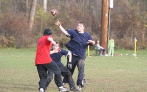 On Thanksgiving morning, 2007, Good-Will FD and Winona Lake FD participated in the annual Turkey Bowl football game. Once again, Good-Will won the game. (Photos by Paul F. Harrington)