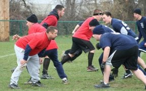 On Thanksgiving morning, 11/25/10, the Good-Will FD and Winona Lake FD participated in the annual Turkey Bowl football game. (Photos by Cheryl Gross)